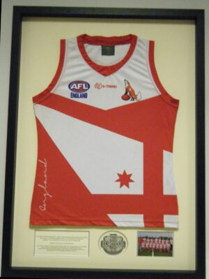 AFL with photo medal and text