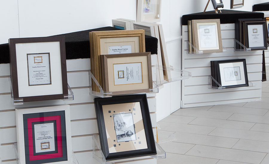 all of our readymade picture frames are manufactured by our team of frame makers in carlow using solid wood