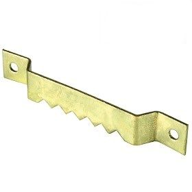 Lion Saw Tooth Hanger 63mm Brass Plated