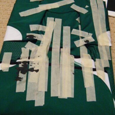 damaged jersey Ireland masking tape