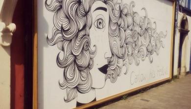 Carlow Arts Festival wall art, finished