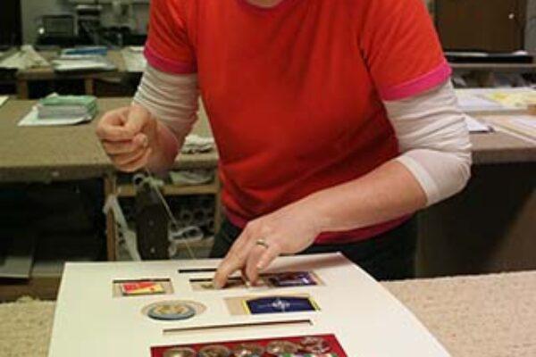 military medal framing working on frame