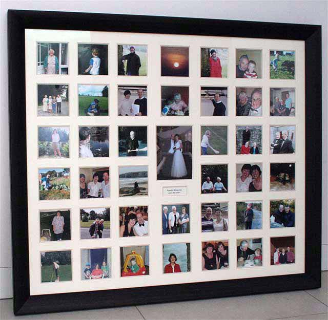 photo collage framing multi aperture frame